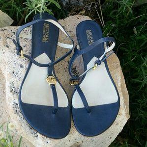 Michael Michael Kors Navy Blue Nora Wedge Sandals